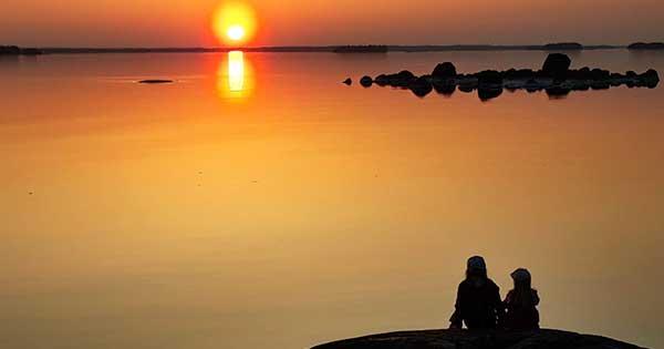 Njut av solnedgången